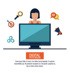 digital marketing and advertising vector image