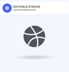 Dribble icon filled flat sign solid vector