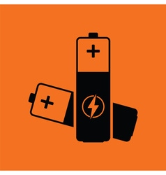 Electric battery icon vector