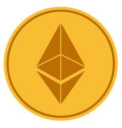 Ethereum gold coin vector