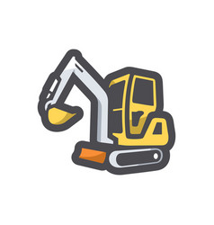 excavator with bucket icon cartoon vector image