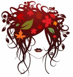 fashion girl autumn vector image