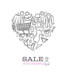 fashion online shopping banner i vector image