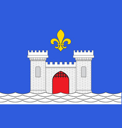 Flag of blaye in gironde of nouvelle-aquitaine is vector