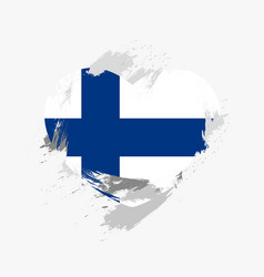 Flag of finland vector