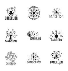 Flowering icons set simple style vector