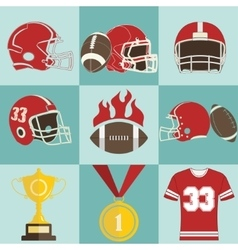 Football game icons vector