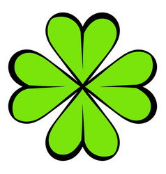 four leaf clover icon icon cartoon vector image