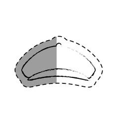 Golfer hat isolated icon vector