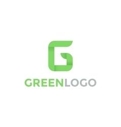 green letter g logo vector image