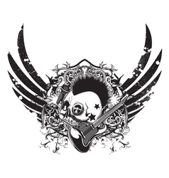 Grunge music emblem vector