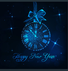 happy new year greeting card with roman numeral vector image