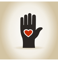 Heart in a hand4 vector