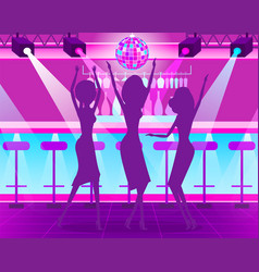 hen-party in night club bachelorette event vector image