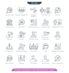 Human Resources Linear Set 02 vector