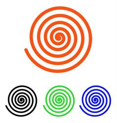 Hypnosis flat icon vector