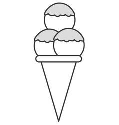 ice cream cone icon vector image