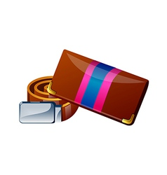 Icon purse and belt vector