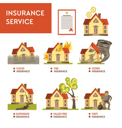 Insurance service financial payment natural vector