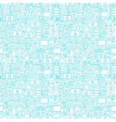 Internet security white seamless pattern vector