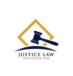 Judge hammer icon judge gavel symbol vector