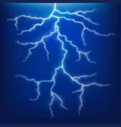 Lighting and thunder on blue sky vector