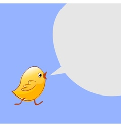 Little chicken goes and talks design vector image