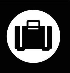 luggage bag icon design vector image
