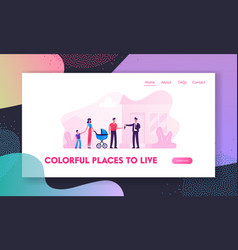 man selling or renting house to couple vector image