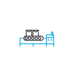 Manufacturing facility linear icon concept vector