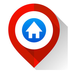 Map pin red vector