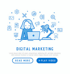 marketer is working overtime on laptop concept vector image