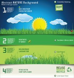 Modern nature design layout vector image