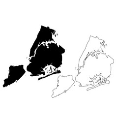 new york city map vector image