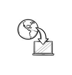 online education hand drawn sketch icon vector image