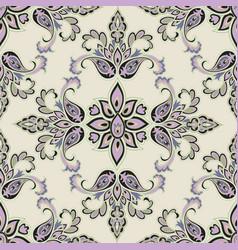 oriental floral seamless pattern flower geometric vector image