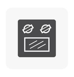 oven icon black vector image