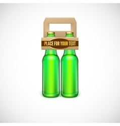 Packaging of beer vector