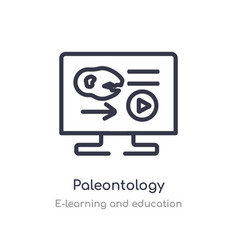 Paleontology outline icon isolated line from vector