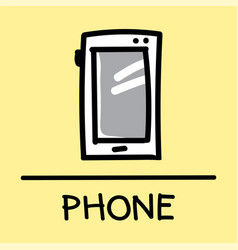 Phone hand-drawn style vector
