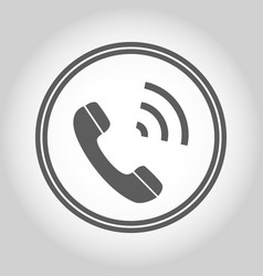 phone isolated flat web mobile icon sign vector image