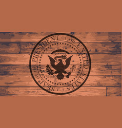 Presidential seal brand vector