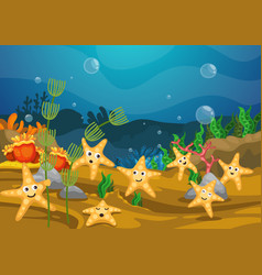 Sea underwater background vector