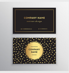 Set business card templates with gold vector
