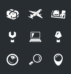 Set of aircraft flight recorder icons vector