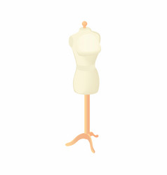 Sewing mannequin icon cartoon style vector image