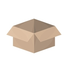 silhouette packing open and empty vector image