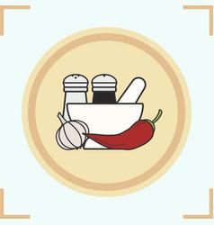 Spices color icon vector