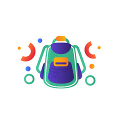Tourist backpack camping summer travel vector