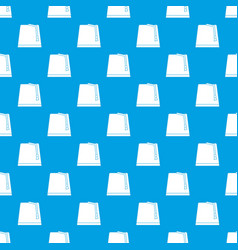 Turkish fez pattern seamless blue vector